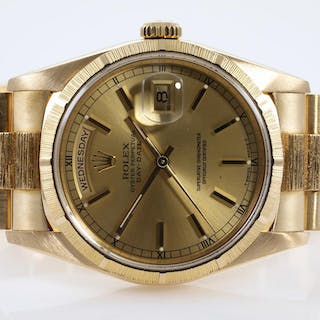 Rolex 18ct Gold Mens Watch 18248 Lot # 40 Adelaide
