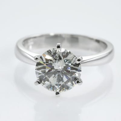 3.00ct Round Diamond Solitaire Ring Lot # 71 Melbourne