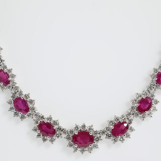 19.00ct Ruby and Diamond Necklace Lot # 106 Adelaide