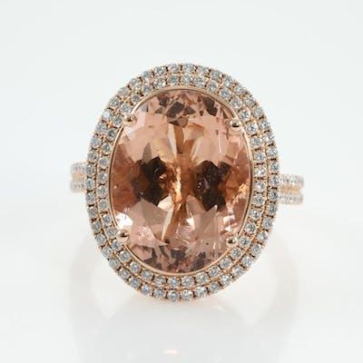 9.02ct Morganite and Diamond Ring Lot # 166 Melbourne