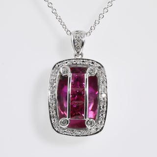 0.94ct Ruby and Diamond Pendant Lot # 90 Melbourne