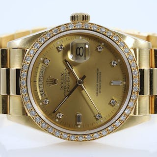 Rolex Day-Date Mens Watch 18048A Lot # 118 Melbourne