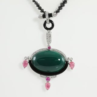 Mixed Gemstones and Diamond Necklace Lot # 172 Adelaide