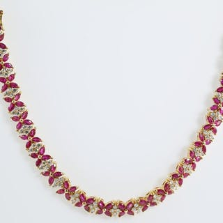 Ruby and Diamond Necklace Lot # 69 Melbourne