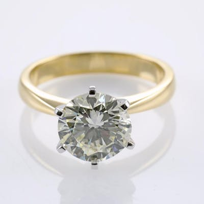 3.01ct Round Diamond Solitaire Ring GIA N VS2 Lot # 136 Melbourne