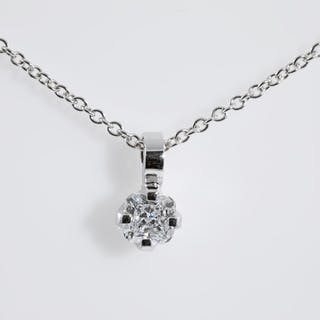 0.37ct Cushion Cut Diamond Solitaire Pendant GIA D VS1 Lot # 210 Melbourne