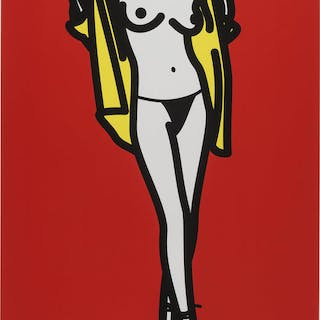 Woman taking off a man's shirt, 2003 - Julian Opie