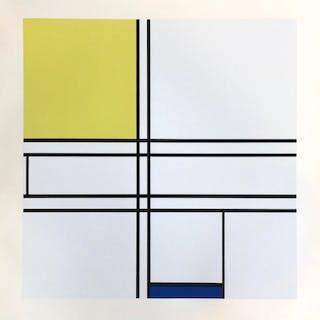 Composition bleu, jaune, 1957 - Piet Mondrian