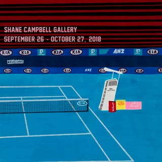 Tennis Court Drawing Poster, 2018 - Jonas Wood
