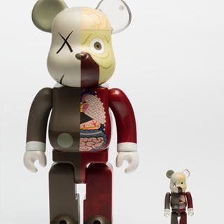 "Original Fake ""Dissected"" Bearbrick Companion 400% and 100%, 2008 - KAWS"