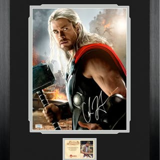 Chris Hemsworth Autographed Avengers: Age of Ultron Thor 11x14 Framed