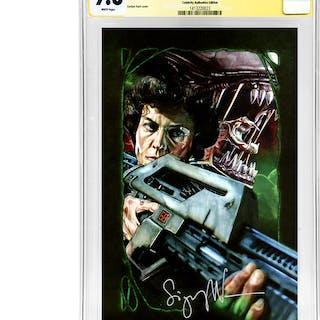 Sigourney Weaver Autographed Aliens #4 Celebrity Authentics Variant