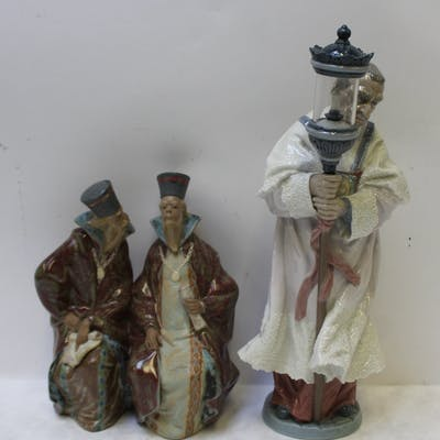 LLADRO. 2 Religious Porcelain Groupings.