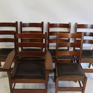 GUSTAV STICKLEY 6 Dining Chairs.