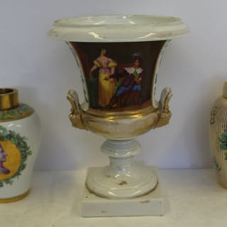 Antique Porcelain Grouping To Include