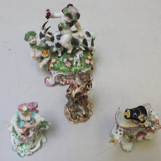 4 Antique Continental Porcelain Figures.