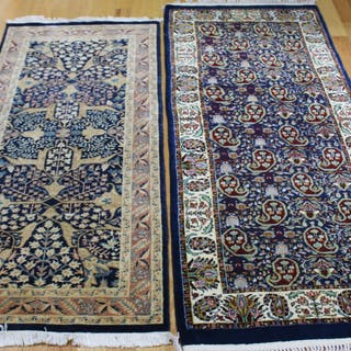 2 Vintage And Finely Hand Woven Carpets.