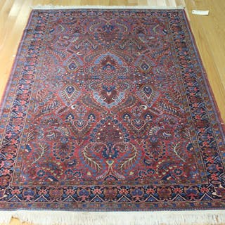 Antique And Finely Hand Woven Carpet.
