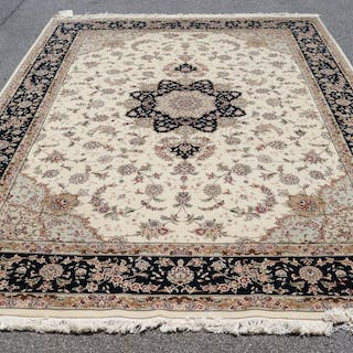 Vintage And Finely hand Woven Carpet .
