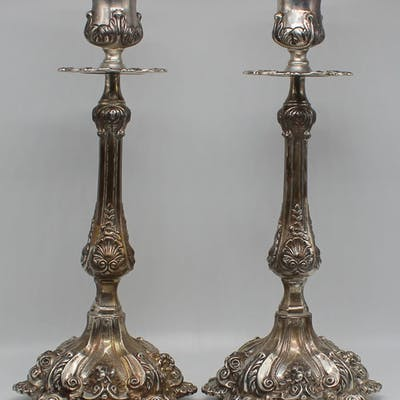 STERLING. Pair of Portuguese Topazio Sterling