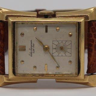 JEWELRY. Vintage Jules Jugensen 14kt Gold Watch.
