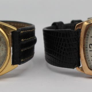 JEWELRY. Grouping of (2) Waltham Gold Watches.