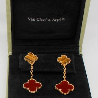 JEWELRY. Pair of VCA Magic Alhambra Earrings.