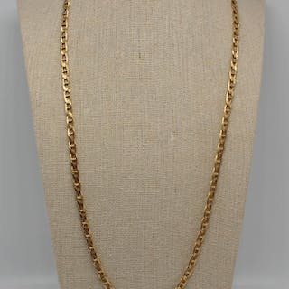 JEWELRY. Men's 14kt Gold Mariners Link Chain