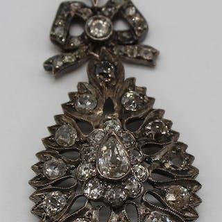 JEWELRY. Antique 14kt Gold and Diamond Pendant.