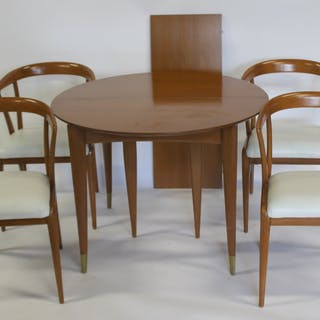 GIO PONTI. Midcentury Table And 4 Chairs By