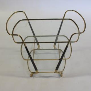 MIDCENTURY. Gio Ponti Style Gilt Metal T Cart.