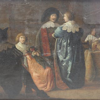 UNSIGNED. Old Master Oil On Panel After Rembrandt