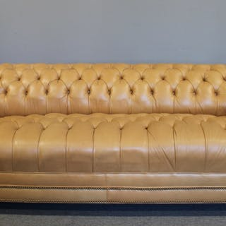Vintage And Fine Quality Leather Chesterfield Sofa