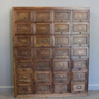 Antique Oak Multi Drawer Lift Top Drawer Cabinet.