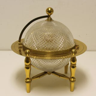 BACCARAT. Gilt Bronze And Crystal Tantalus