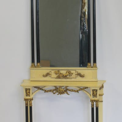 Antique Italian Paint And Gilt Decorated Console