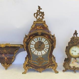 2 Antique Louis XV Style Clocks.