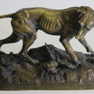 Jules Moigniez (French 1835 - 1894).Signed Gilt