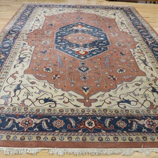 Large Vintage And finely Hand Woven Carpet