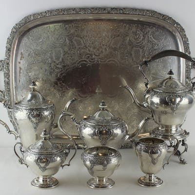 STERLING. Watson Co. 6 Pc. Sterling Tea Service.