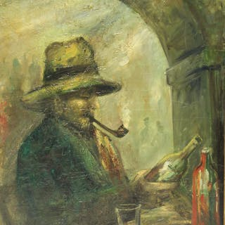Glenn O Coleman.Signed Oil On Canvas ,Man With