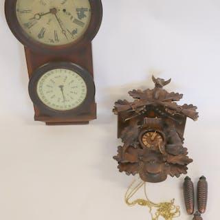 Antique Perpetual Calendar Regulator Clock