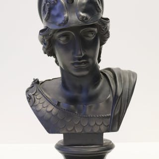 WEDGWOOD. Basalt Bust of Minerva