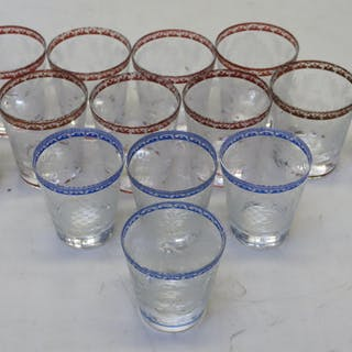 Lot Of Fine Quality Continental Etched Glasses