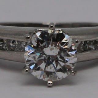 JEWELRY. EGL 1.22ct RBC Diamond Engagement Ring.