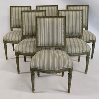 6 Fine Quality Antique Louis XV1 Style Chairs