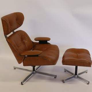 MIDCENTURY. Eames Style Leather Upholstered