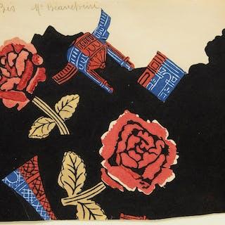 Composition aux roses et monuments de Paris by Raoul Dufy