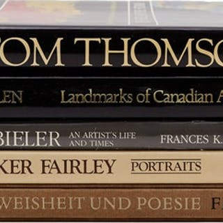 Selection of 5 Books on Canadian and International Art by Books and Reference