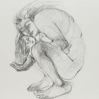 Mother Cradling Child by Claire Weissman Wilks